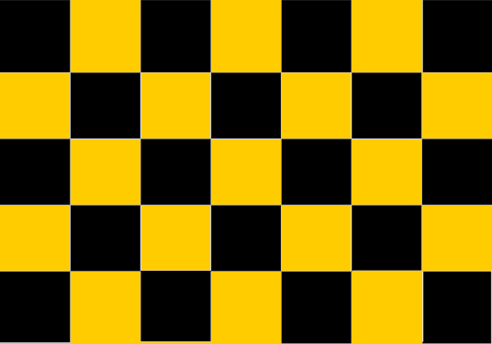Comprar bandera Cuadros amarilla y negra