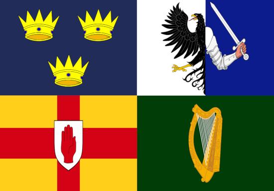 Bandera de Las 4 Provincias de Irlanda